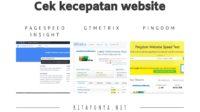 cara cek kecepatan website