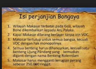 Sebutkan Isi Perjanjian Bongaya 1667, Ini Sejarah dan ...