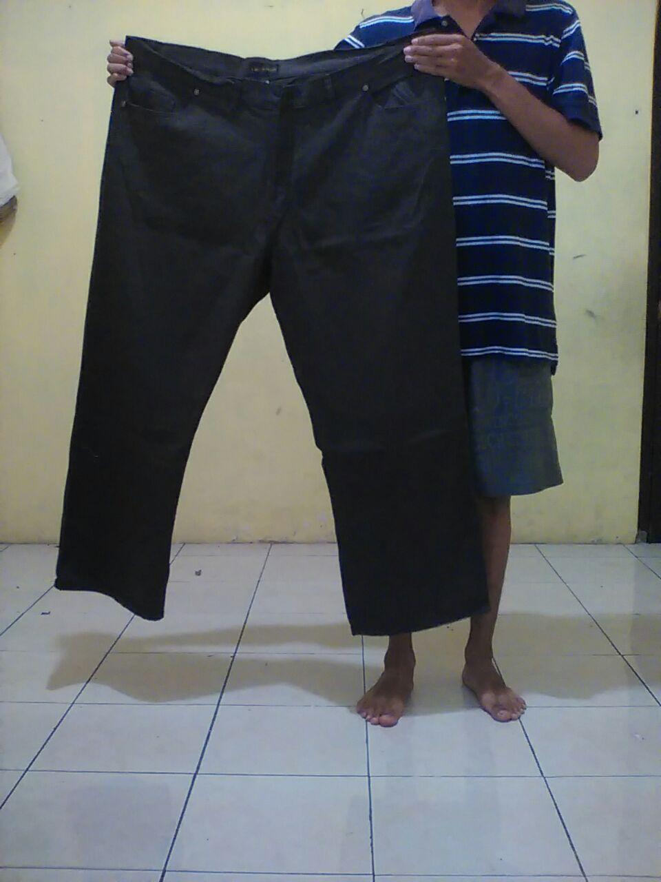 Ready Stok Celana Jeans Jumbo Big Size 46 / Abu abu / Coklat