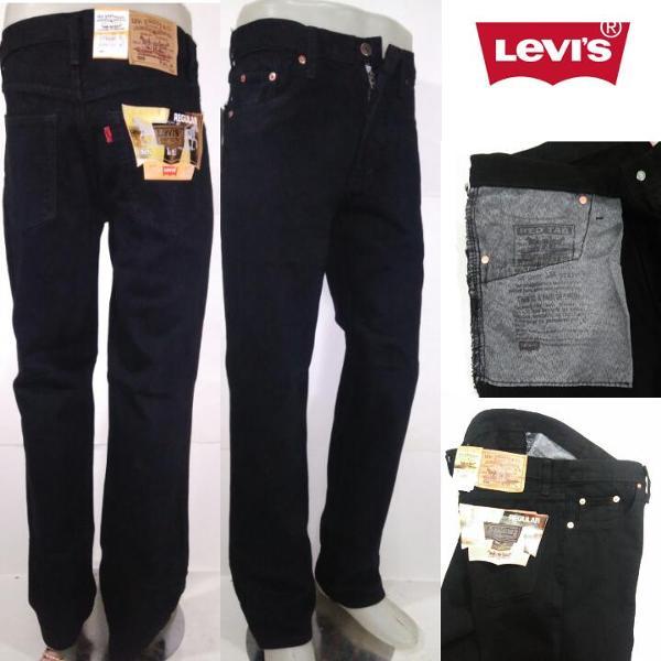 Jual Celana Jeans Pria Reguler Hitam