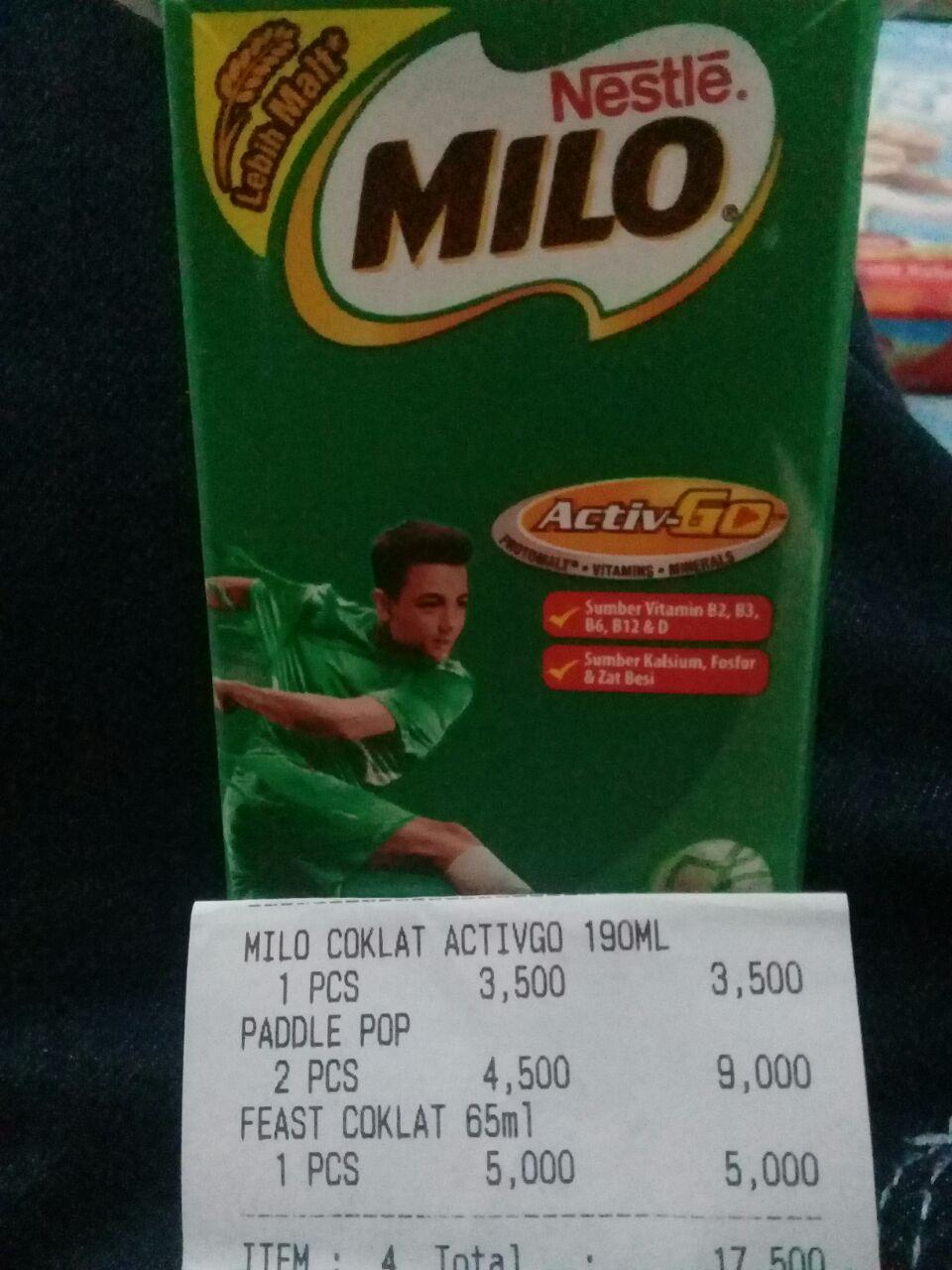 harga susu milo