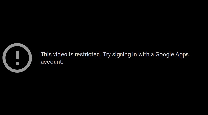 This Video is Restricted Mode