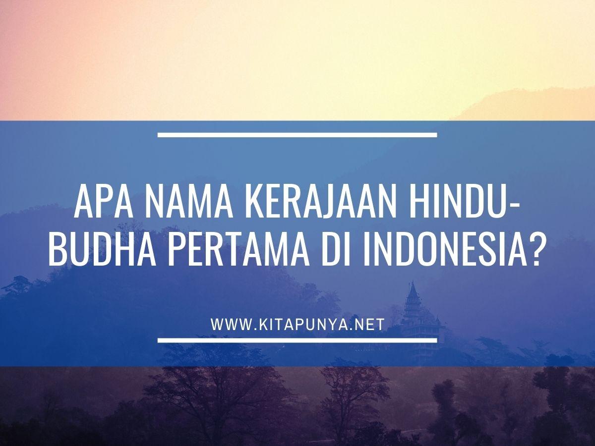 kerajaan hindu pertama di indonesia
