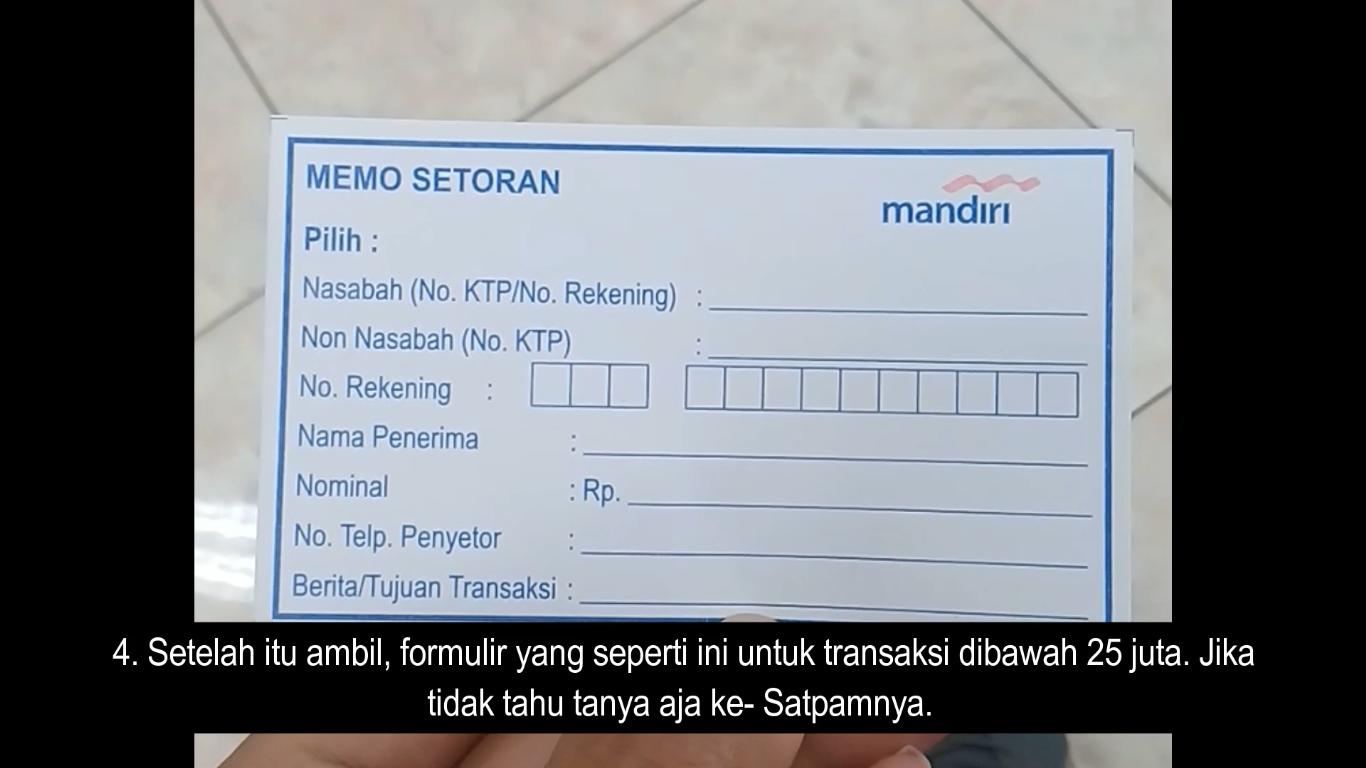 cara transfer uang tapi tidak punya rekening di bank mandiri