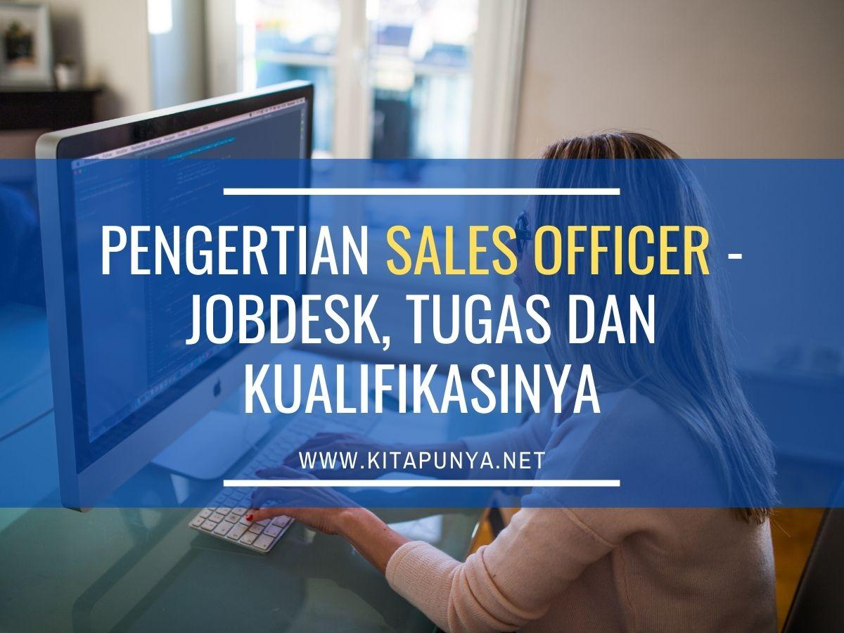 pengertian sales officer