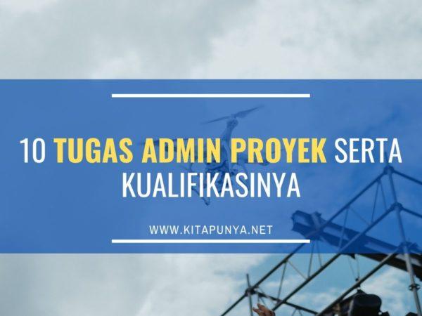 tugas admin proyek