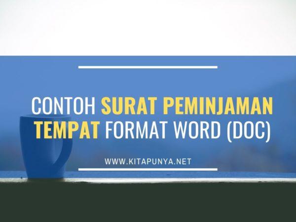 contoh surat peminjaman tempat format word