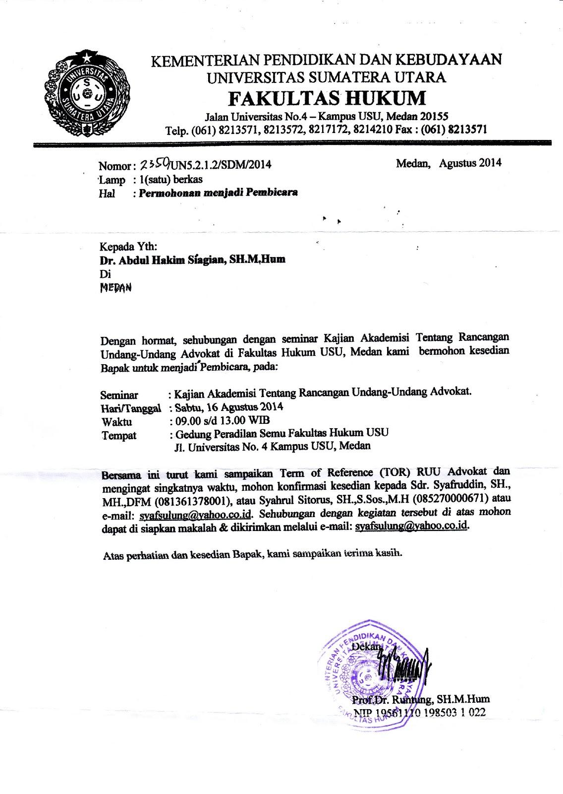 contoh surat permohonan narasumber kementrian