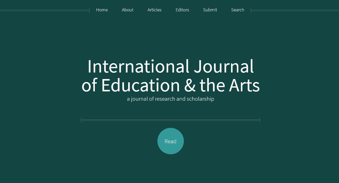 international journal of education the arts