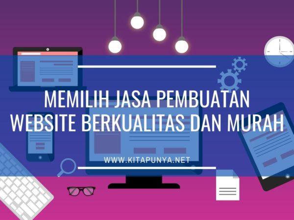 memilih jasa pembuatan website berkualitas