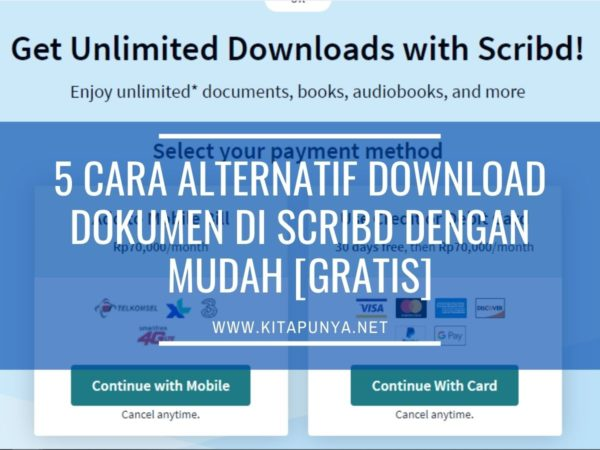 cara download dokumen gratis di scribd