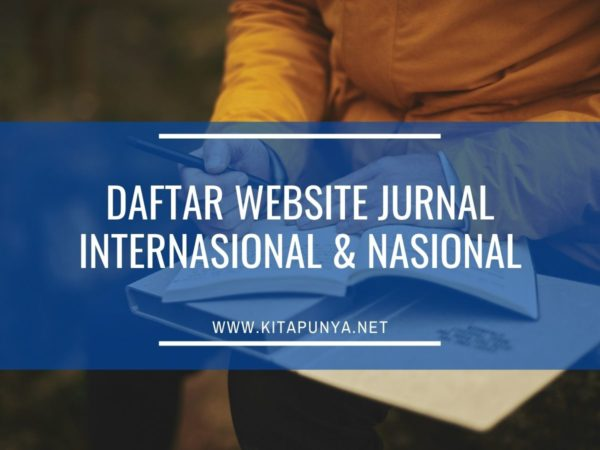 daftar website jurnal internasional dan nasional