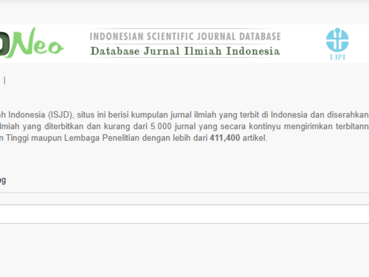 isjd database jurnal ilmiah indonesia